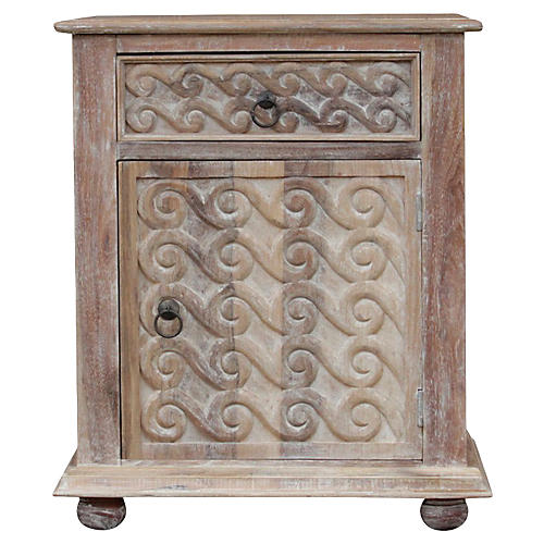 Carved Scroll Nightstand