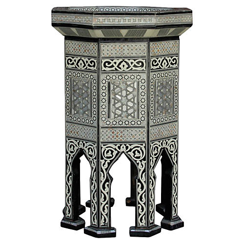 Syrian Marquetry Side Table