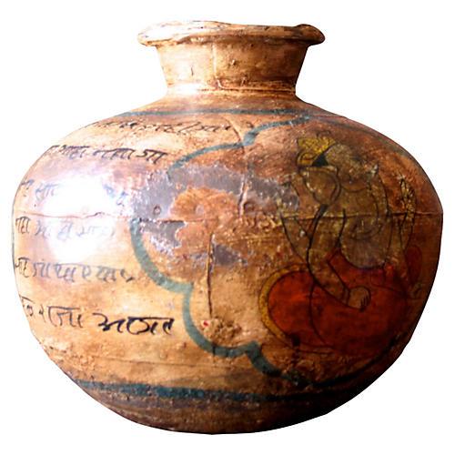 Metal Sanskrit Water Pot