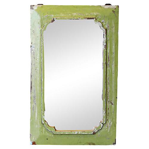 Petite Lime Framed Mirror
