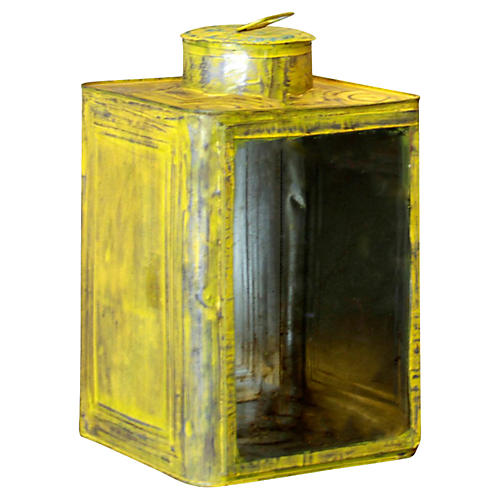 Yellow Candle Lantern