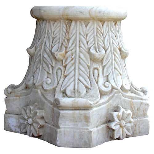 Floral Architectural Marble Base