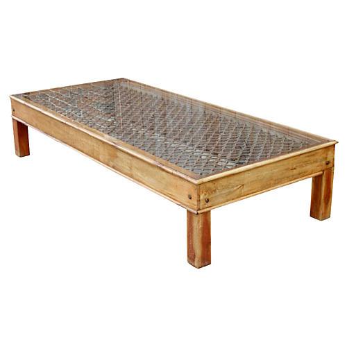 Jali Window-Top Coffee Table