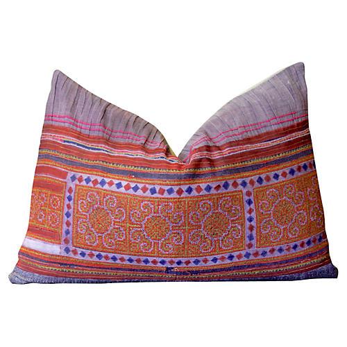 Diamond Chain Hmong Hill Tribe Pillow