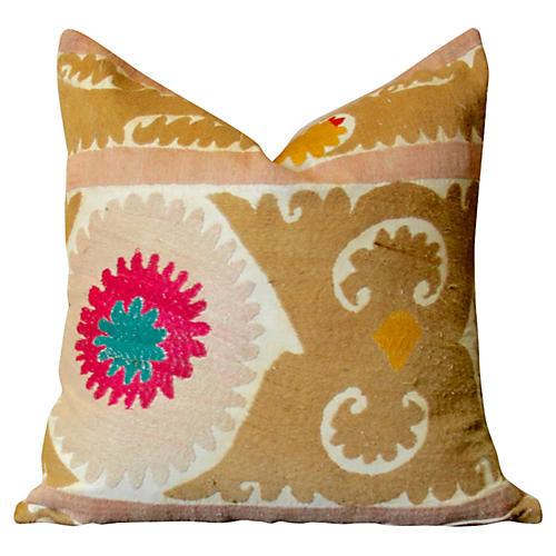 Phool Antique Suzani Pillow