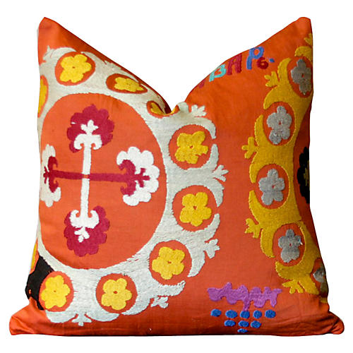 Mogara Antique Suzani Pillow