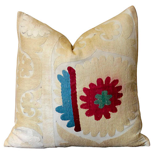 Gulab Antique Suzani Pillow