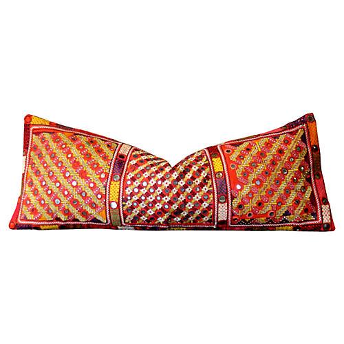 Geometric Reshmi Sutra Pillow