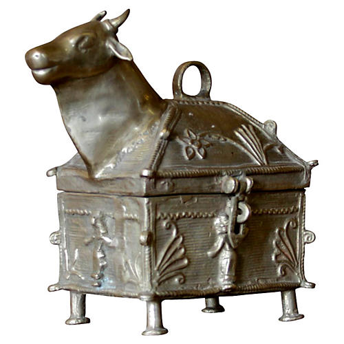 Nandi Brass Ceremonial Box