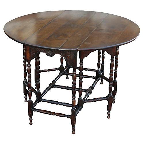 Antique William & Mary Gate-Leg Table