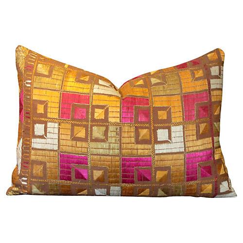 Luma Phulkari Lumbar Pillow