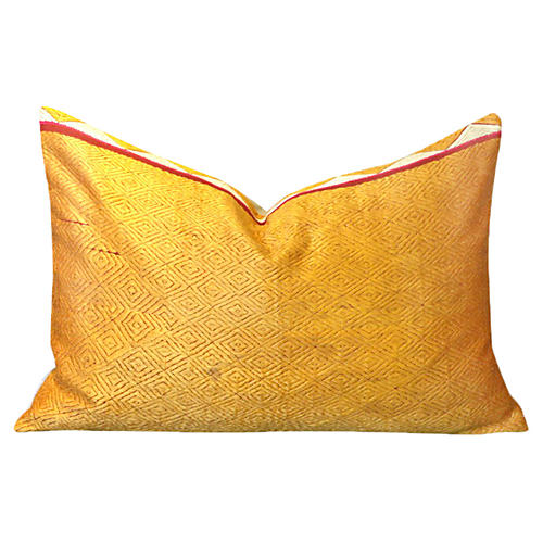 Suha Golden Phulkari Lumbar Pillow