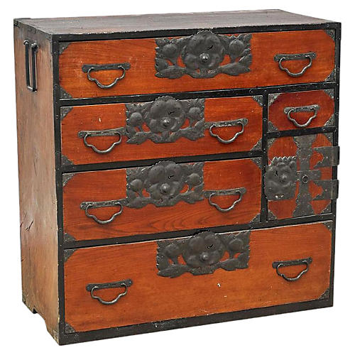 Japanese Jansu Chest of Drawers
