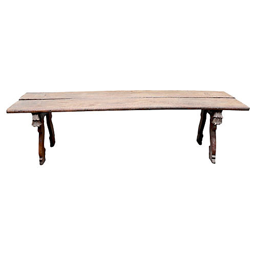 Antique Maalish Daybed Coffee Table