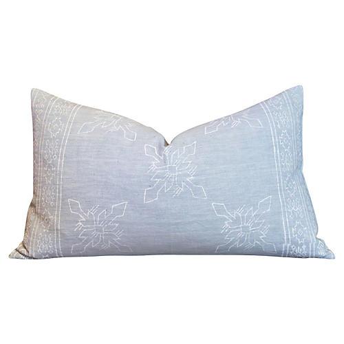 Itzcali Aztec Block Print Pillow