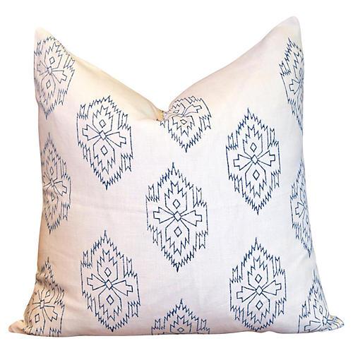 Chimalli Aztec Block Print Pillow