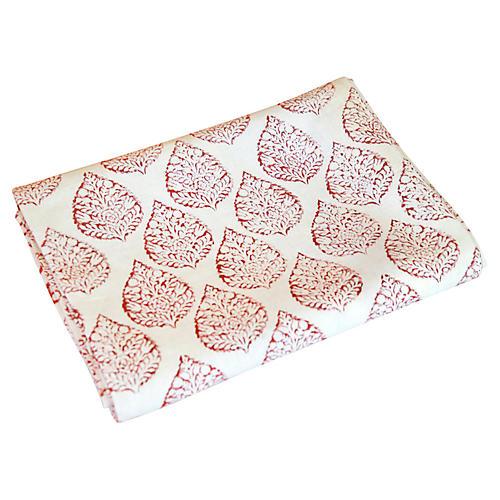 Runali Leaf Block Print Throw
