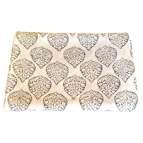 Pallabi Leaf Block Print Throw