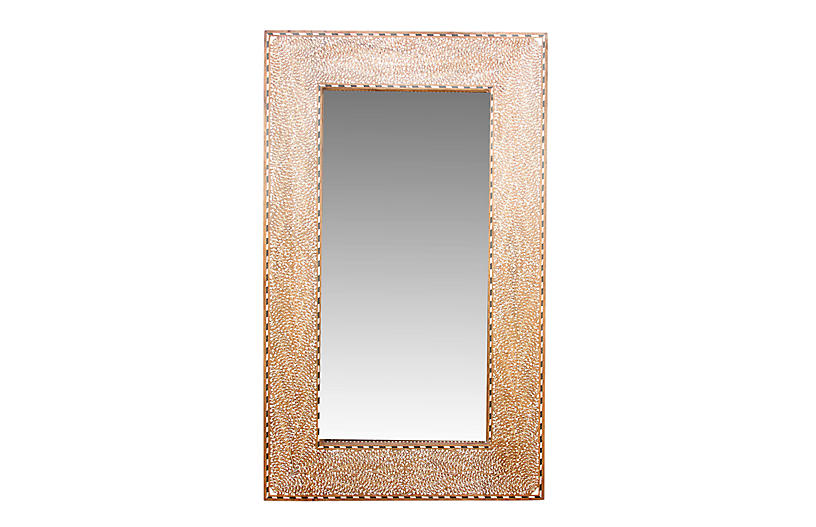 Grand Bone Inlay Pattee Foliage Mirror