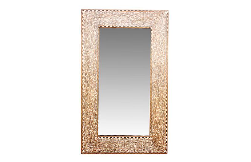 Grand Bone Inlay Pattee Foliage Mirror