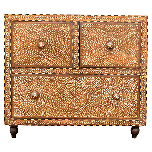 Titli Inlay Three Drawer Dresser