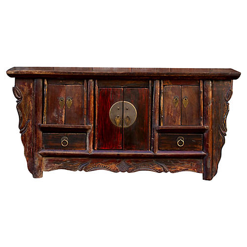 Aged Chinese Diminutive Altar Chest