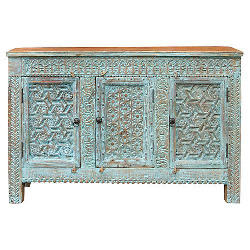 Vintage Moorish Blue Sideboard