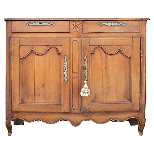 19th C. French Fruitwood Louis XV Buffet