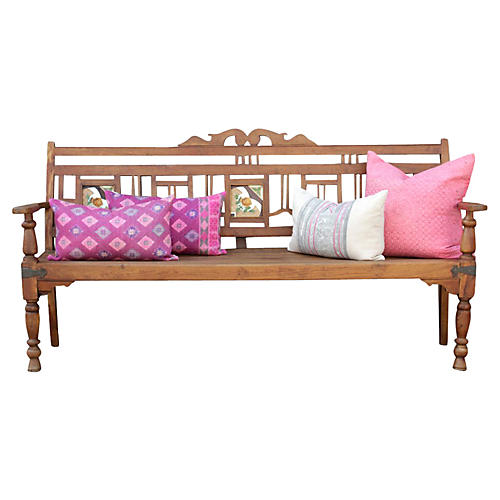 Antique Farmhouse Colonial Bench