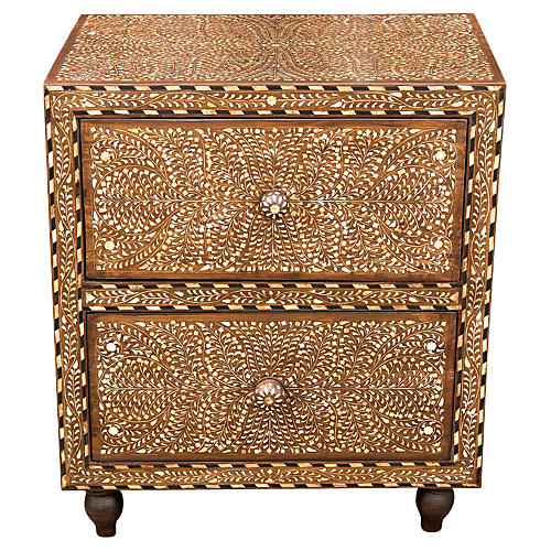 Titli Finely Inlay Bedside Dresser