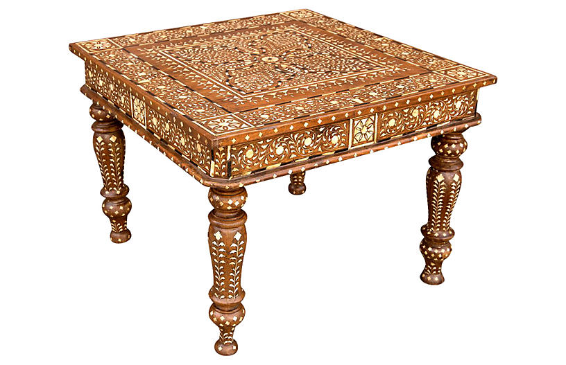 Marigold Bone Inlay Side Table