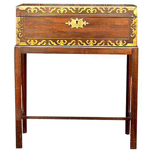 Colonial Rosewood Box on Stand
