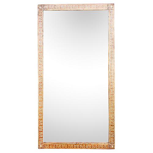 Meandros Bone Inlay Floor Mirror