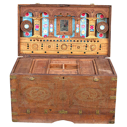 Antique Dowry Trunk