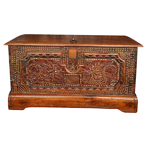 Inlaid Serpent Trunk