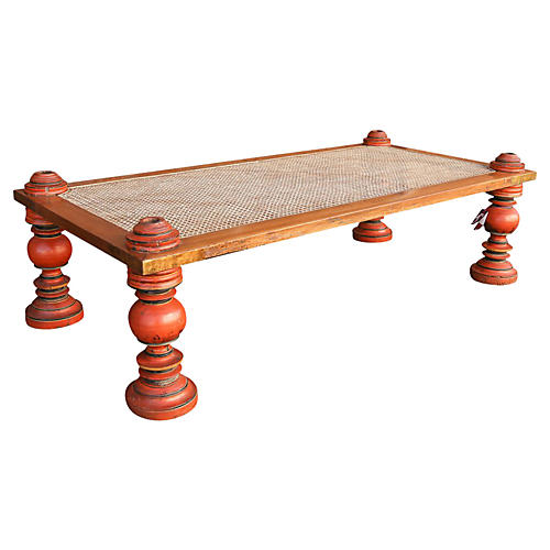 Anglo-Indian Red Baluster Coffee Table