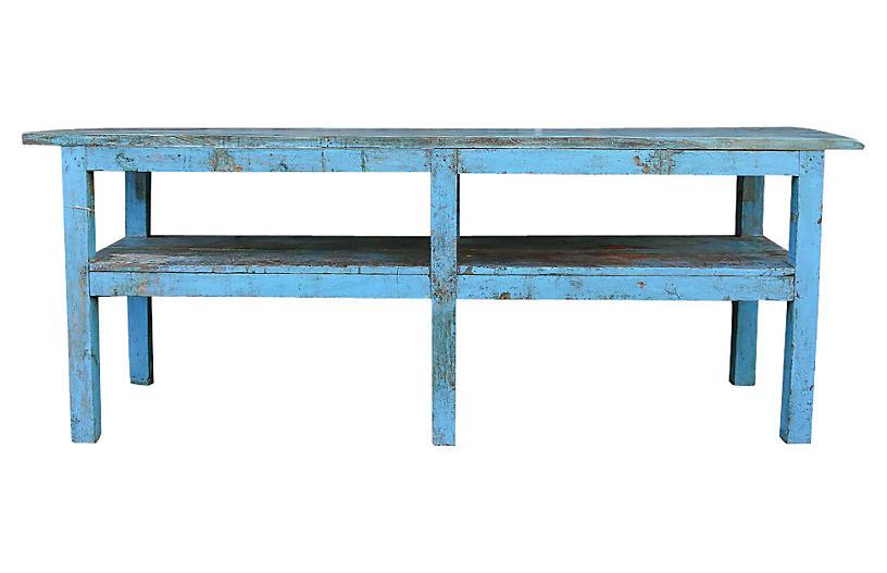 Azure Farmhouse Table