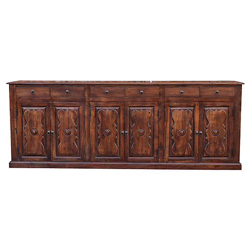 Long Suryagarh Carved Sideboard