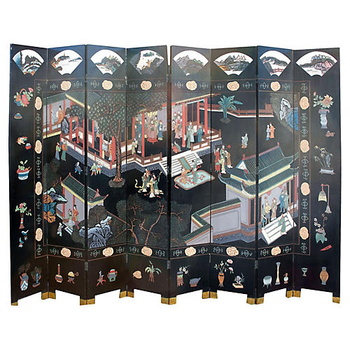 Midcentury Chinese Room Screen