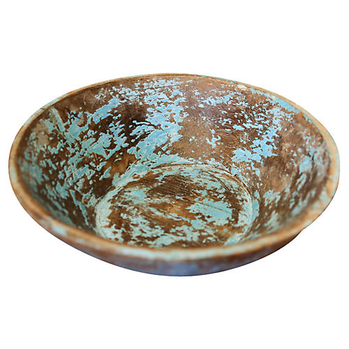 Distressed Painted Bowl