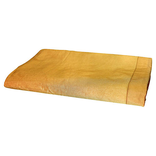 Gold Silk-Blend Duvet Cover, King