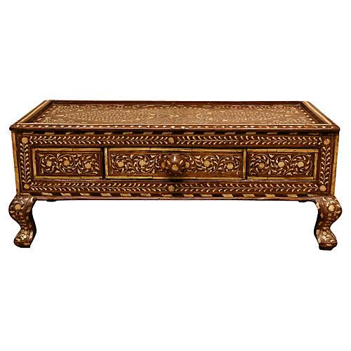 Vintage Bone Inlay Gulut Altar Table
