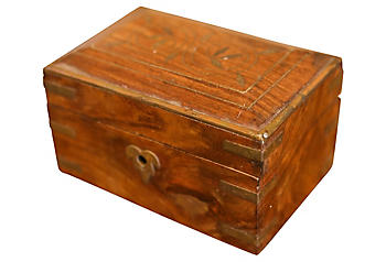 Antique Furniture Antiques Expressive Metal Edwardian Steamer Trunk