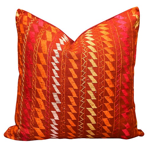 Tali Bagh Phulkari Pillow