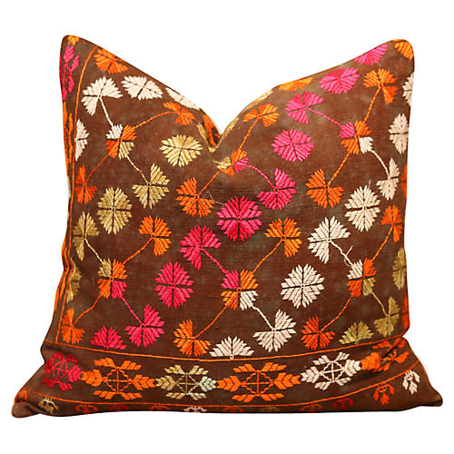 Nashima Bagh Phulkari Pillow