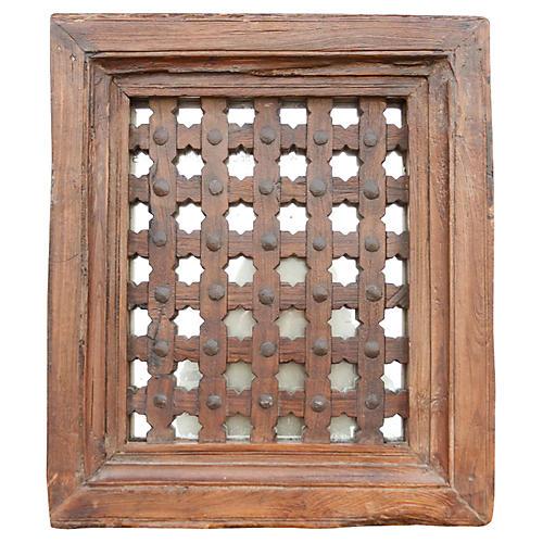 Moorish Antique Carved Mirror