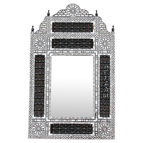 Petite Mother of Pearl Syrian Mirror
