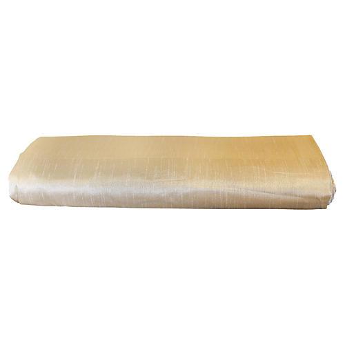 Cream Silk-Blend Duvet Cover, Queen