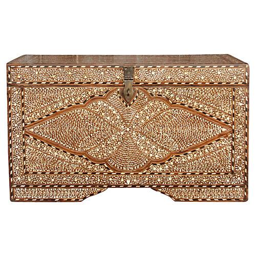 Sagar Seashell Bone Inlay Dowry Chest