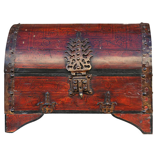 Goa Red Dome Top Trunk